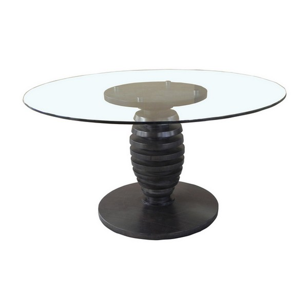 "Metro 54"" Glass Top Cone Table"