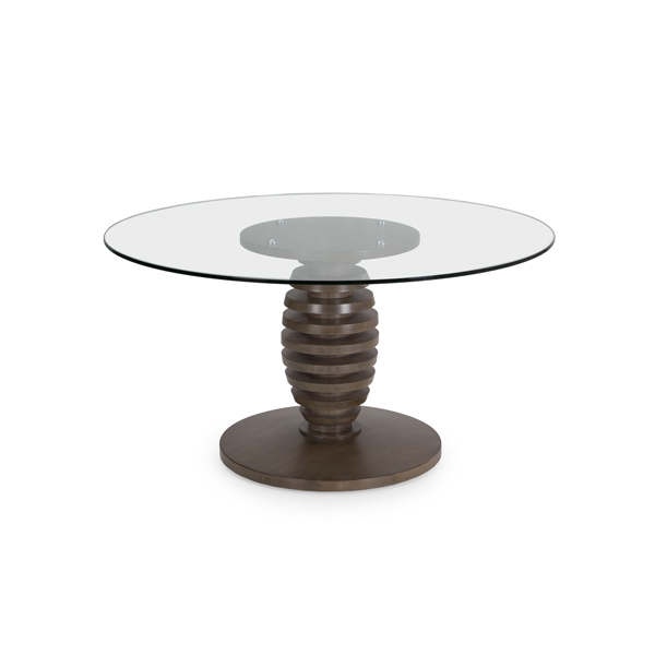 "Metro 60"" Glass Top Cone Table"