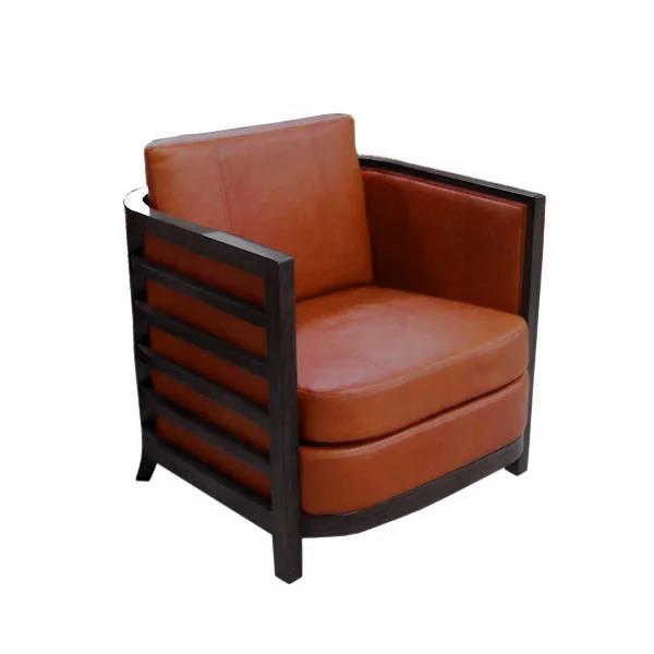 Montecito Barrel Ventura Leather Chair