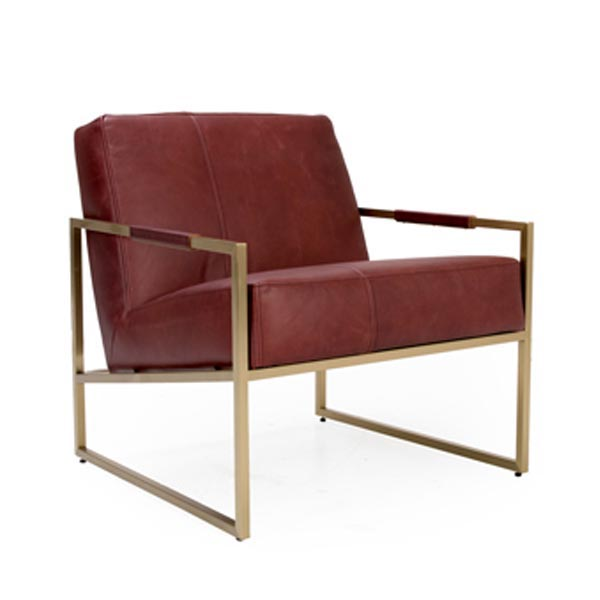 Munro Leather Lounge Chair