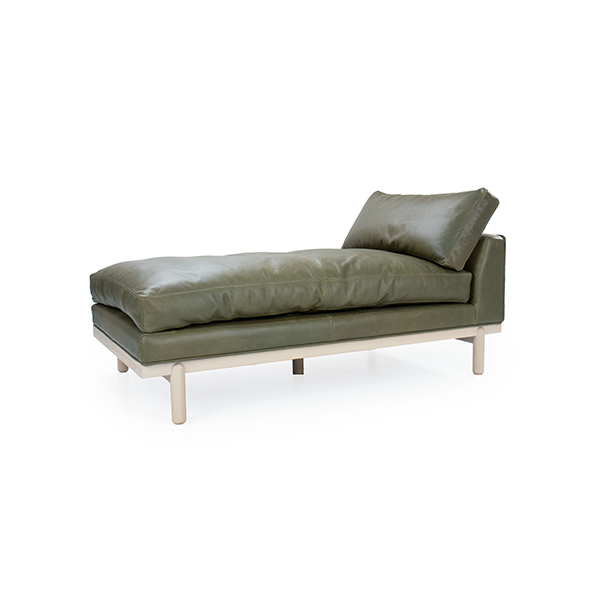 Cantor Leather Chaise