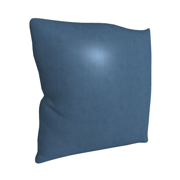 """Tossica 21"""" Square Leather Toss Pillow"""